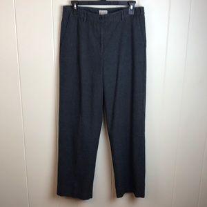 LL Bean High Rise Grey Cotton Career Pants